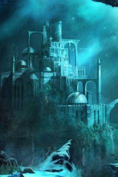 Underwater Mermaid Castle 24 best images about U...