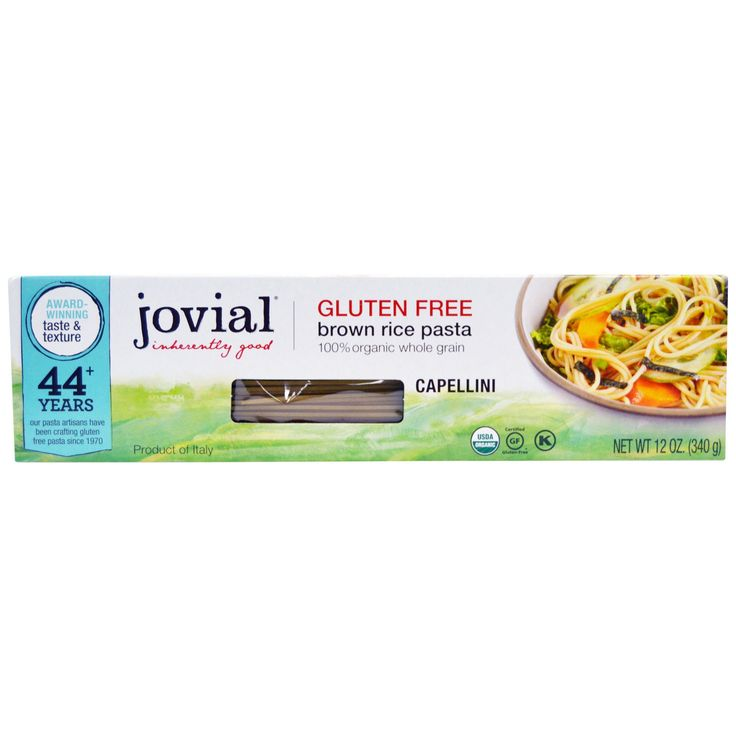 Jovial, Brown Pasta Rice, Capellini, 12 oz (340 g)