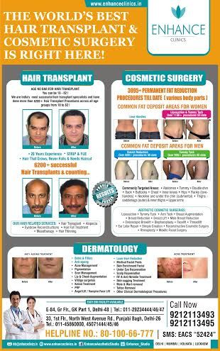 Hair Transplant & Cosmetic Surgery  Hair Regrowth Results Visit http://www.enhanceclinics.in/hairlossmain for more.