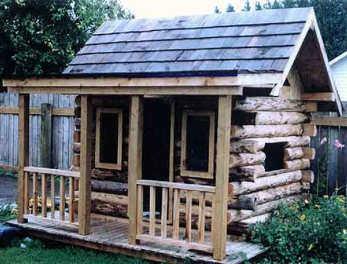 1000 images about log cabin playhouse on pinterest kid for Kids cabin playhouse