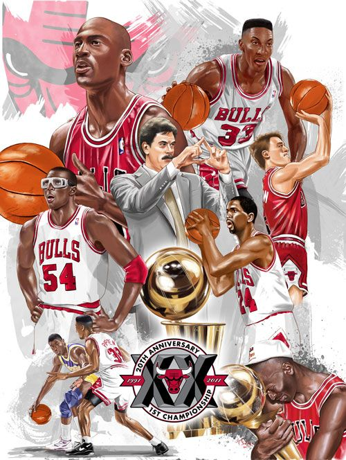 1991 Chicago Bulls  by ~tsantiago    this is awesome.