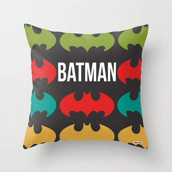 Batman throw pillow cover - Nursery Decor - christmas gift ideas - baby gifts - birthday gifts for boyfriend - cool gifts for guys