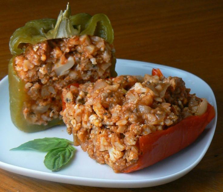 Paleo Sausage Stuffed Peppers