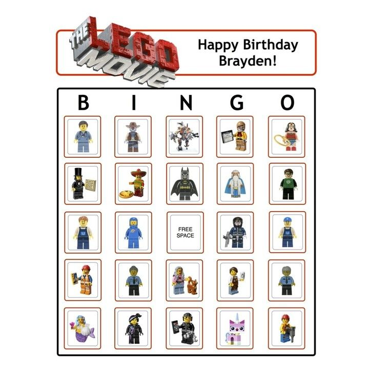 LEGO® Movie Bingo from Birthdays, Bingo, Invites, & More! for $5 on Square Market