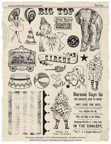 Chapiteau Rubber Stamp Collection - Cirque