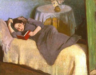 Reading and Art: Róbert Berény, Olvasa nö, 1906