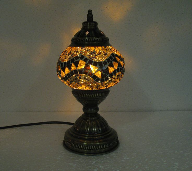 yellow mosaic glass table lamp tischlampe moroccan lantern lampe mosaique m 40 handmade. Black Bedroom Furniture Sets. Home Design Ideas