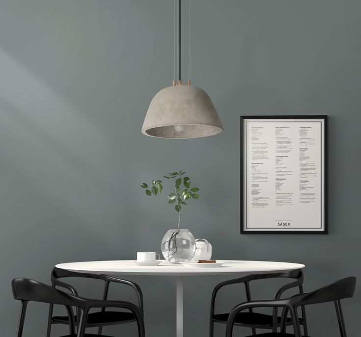 Kunskapstavlan - Why not hang your sauces recipes on the wall? - Green Kitchen - Concrete Lamp - Wall Art -