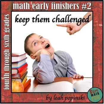 """Early Finishers and Gifted Math Challenges #2: This early finishers and gifted packet is  perfect for centers, individual and collaborative work, or for math warm ups. Why you'll L-O-V-E this! """"Wow! These are tough!!! Perfect for my students who need a real challenge in math. I love the variety of the activities."""" -Lina. Great problem solving challenges that are focused on Common Core Mathematical Practices and Texas TEKS Mathematical Process Standards. Teacher tested with proven results!"""
