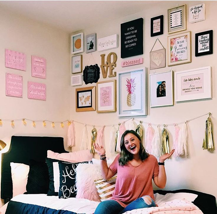 Dorm Room Wall Decor 9 Genius Ways To Decorate Your Dorm Room Walls By Sophia Lee Dorm Room Diy Dorm Room Wall Decor Sorority Room