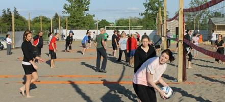 Sandbox Hamilton.  12 outdoor professional-grade volleyball courts at Confederation Park in Hamilton.