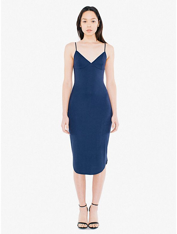 V Neck Ribbed Midi Dress from American Apparel $38,00