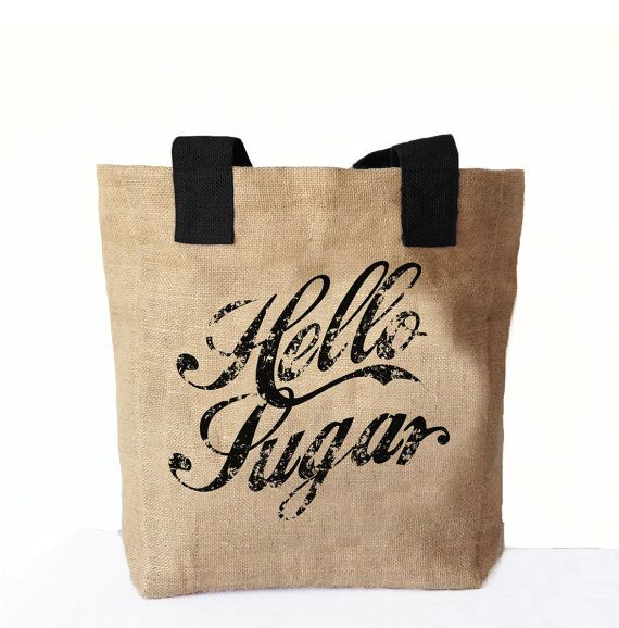 Hello Sugar Tote Bag Southern Greeting Tote bag by AmoreBeaute