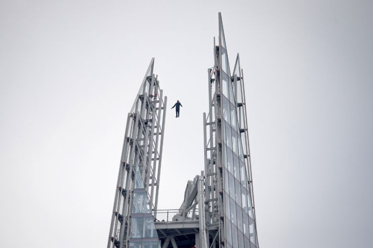 Magician Dynamo appears to levitate above the Shard