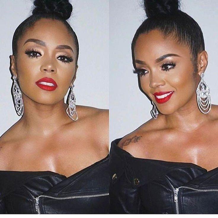 """388 次赞、 1 条评论 - Cherry (@hairfashionlover) 在 Instagram 发布:""""Flawless makeup and bun style 😍😍😘😘@poizcosmetics #hairdo #eyeshadow #bun #updo #eyelashes #hair…"""""""