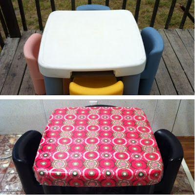 plastic table makeover idea