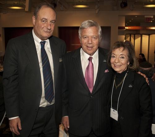 Amir Shaviv, Robert Kraft, and Carolyn Starman Hessel