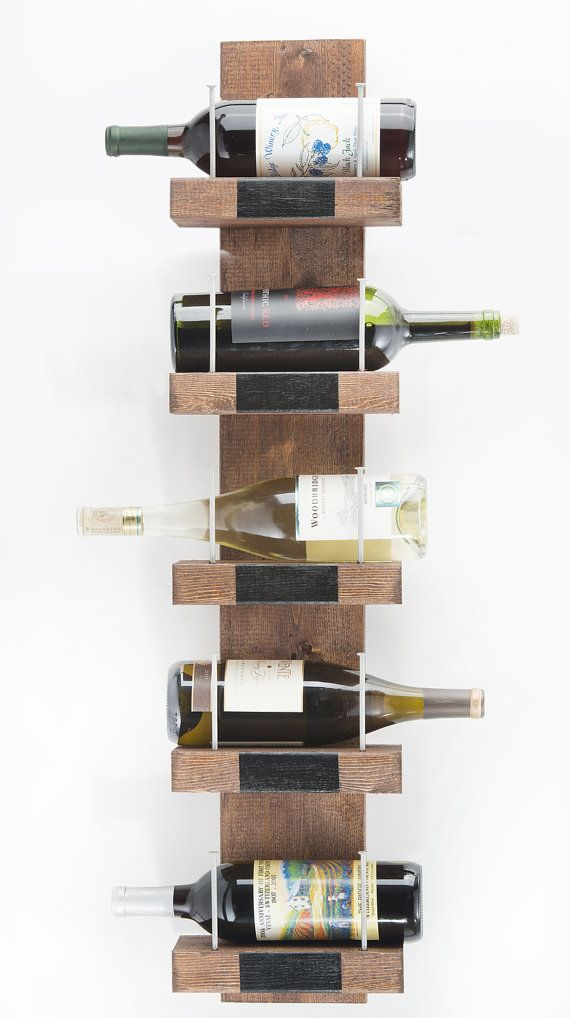 "Rustic Wine Racks, ""Eclectic Wine Rack"" - Long Nails & Recycled Lumber, Artistic Wooden Bottle Shelf, Creative Rustic Cabin Decor"