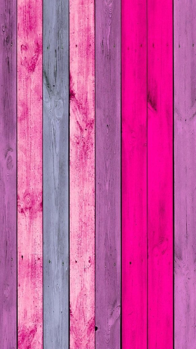 Pink Wood Planks iPhone Wallpaper