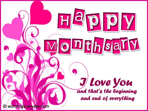 Happy Monthsary Messages For Boyfriend And Girlfriend