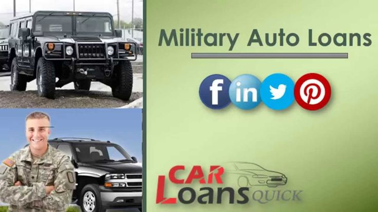 auto loans for military members with bad credit