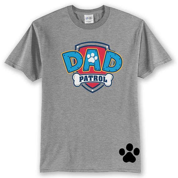 Custom PAW PATROL Dad birthday shirt Dad Patrol T Shirt Paw