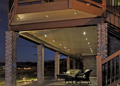 create a party atmosphere with outdoor recessed lighting light decorating ideas