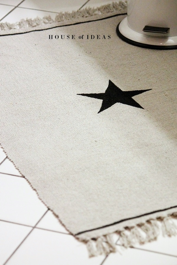 Teppich mit Stern, selber bemalt