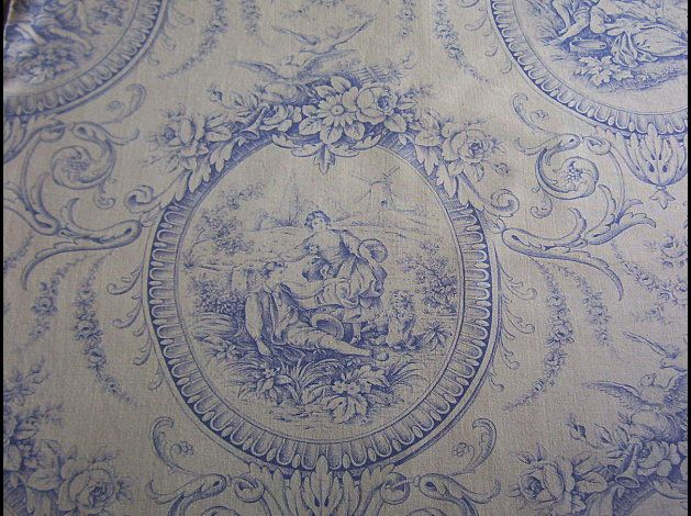 antique french toile fabric