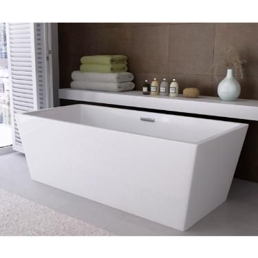 Valencia 1700 Luxury Modern Square Double Ended Freestanding Bath - FSB026 at Victorian Plumbing UK