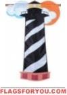 applique Hatteras Lighthouse House Flag - 1 left