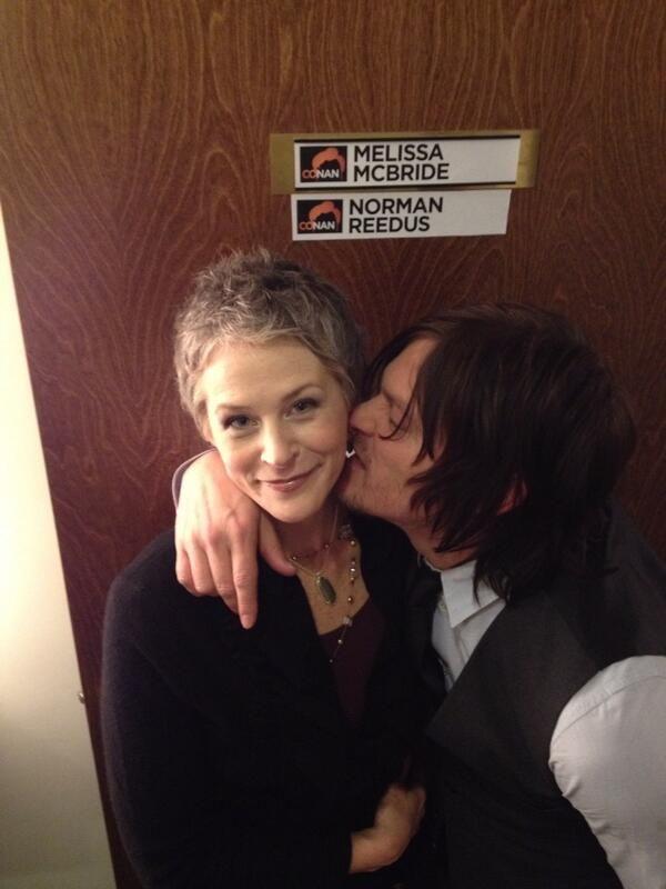 "conan norman reedus melissa mcbride | Melissa McBride tweets ""Conan Tonight!"" with a photo of her and her ..."