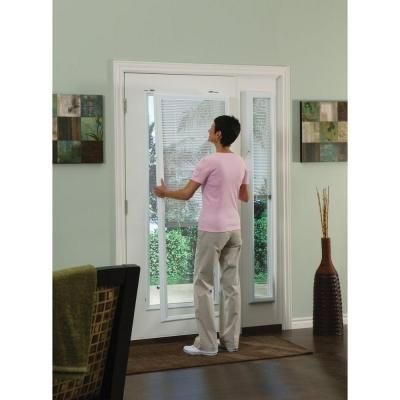 ODL White Cordless Add On Enclosed Aluminum Blinds with 1/2 in. Slats, for 20 in. Wide x 64 in. Length Door Windows-ADDON2064E - The Home Depot