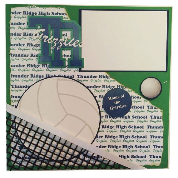 Thunder Ridge High School Grizzlies Volleyball by ScrapYourSpirit, $45.00