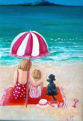 Jo Roffe - Beach I. Acrylics on stretched canvas