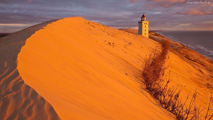 Pustynia, Wybrzeże, Latarnia, Morska