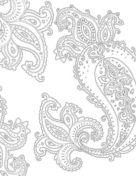 Paisley Pattern Colouring Sheets : 1072 best coloring images on pinterest