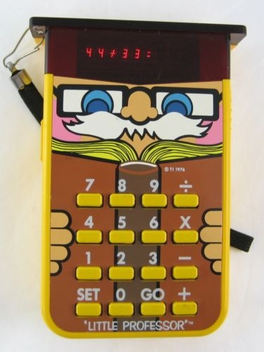 Little Professor Calculator! What a blast from the past. Completely forgot I