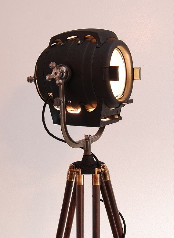 SOLD 30's Vintage Hollywood Theater Stage Light by PhotonicStudio, $879.00