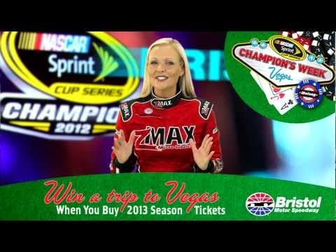How would you like to join Bristol Motor Speedway on an expense paid trip to Las Vegas for the 2012 NASCAR Sprint Cup Series Awards™ and much more?    Just renew or purchase your 2013 Bristol Motor Speedway Season Ticket Package now through Oct. 31, 2012, and be automatically entered to win a trip for two (2) to the 2012 NASCAR Champions Week™ in Las Vegas.