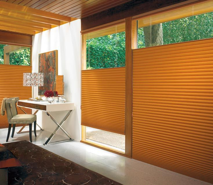 Duette Architella Honeycomb Shades with the Top Down Bottom Up feature for added light and privacy control