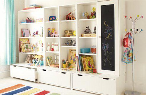 Toy storage shelf
