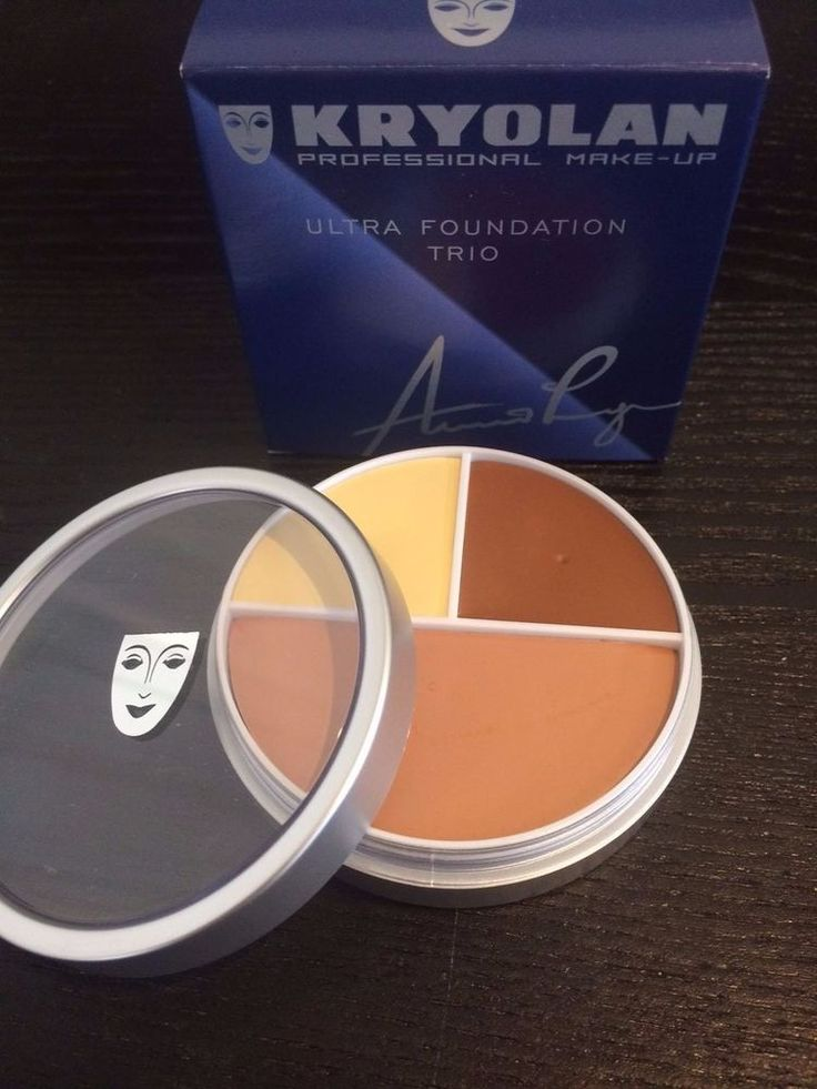 Kryolan 9013 Ultra Foundation Trio Face Makeup Cream Professional Stage A B C D