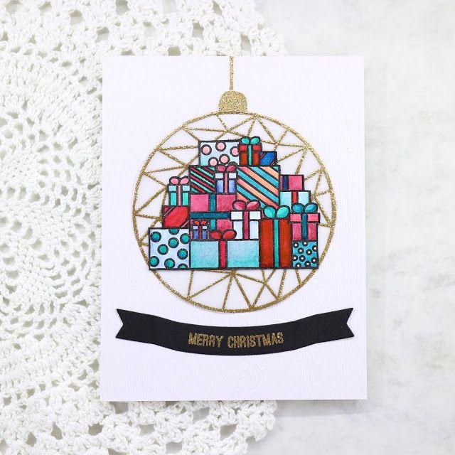 Dana's Craft Talk: Christmas card |Colorful Christmas Vibe stamp set, Krumspring Stamps
