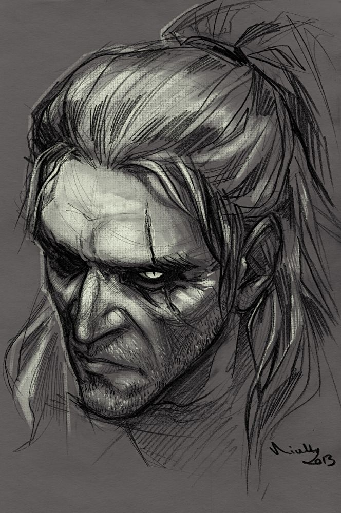 Geralt by ~TheMinttu on deviantART