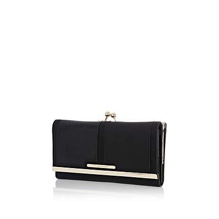 Black croc contrast panel purse £17.00