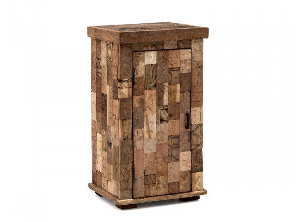 Woodkings Shop Unterschrank Waschbeckenunterschrank Unbehandeltes Holz