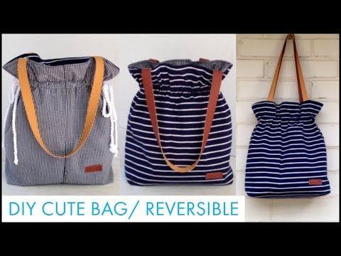 DIY REVERSIBLE Tote Bag/DIY BAG/巾着バッグ …