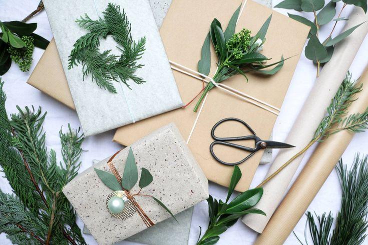 Verpacken für Weihnachten mit viel Grün, Styling & Fotografie: Marij Hessel für vtwonen