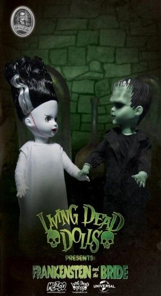 Living Dead Dolls Frankenstein and His Bride